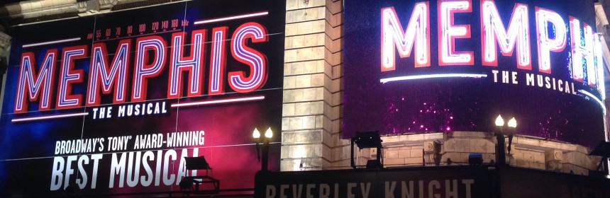 Memphis the musical at Shaftesbury Theatre