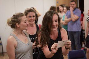 Serena, Margot & Pilar in rehearsal