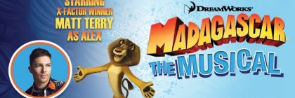 Madagascar musical promotional banner