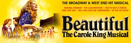 Beautiful banner with Carole King at the piano