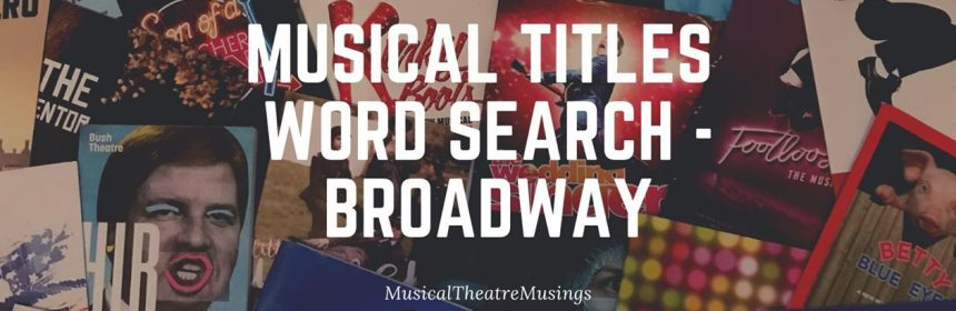 Word search broadway