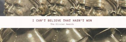 Picture of the olivier award statues